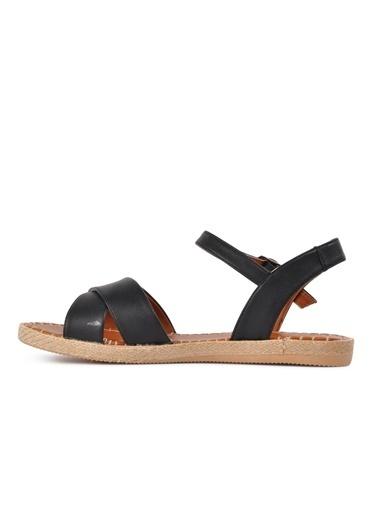 Park Fancy Park Fancy 102 Hasır Kadın Sandalet Siyah